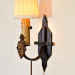 original wall sconce in Spanish Style Home in Northwest Glendale CA