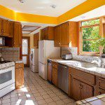 bright yellow kitchen in glendale ca