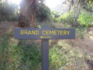 Brand Park Cemetery Sign