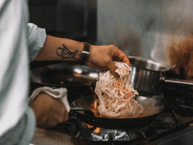 Amazing pan work at Left Handed Cook in La Crescenta